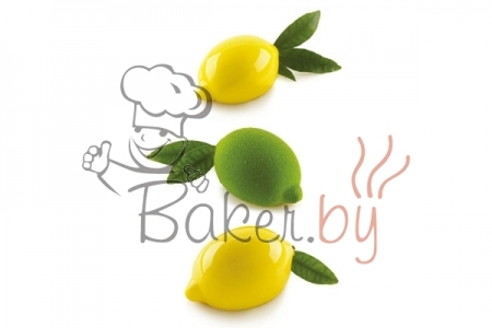 """Форма силиконовая """"Лимон 3D"""", 5 выемок 88,5х61,5 h44,7 мм (с пластиковой подставкой)"""