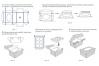Коробка для капкейков с окном (на 4 шт), 160х160х h100 мм