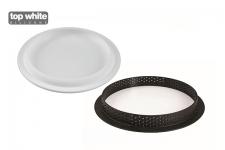 Набор: Форма силиконовая (1 выемка, Ø160 h20 мм) + Кольцо для тарт перфорированное, 1шт (Ø190 h20 мм)