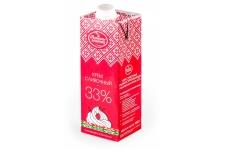 Крем сливочный ультрапастеризованный 33% (животные сливки), 1 л
