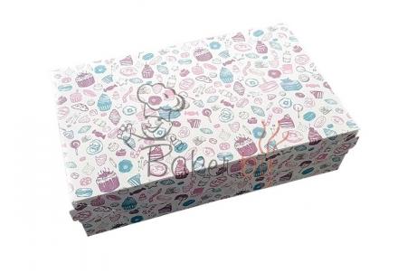 Коробка для торта и десертов, 230х140х h60 мм
