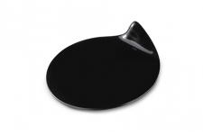 Поднос круглый черный, 105х95мм, пластик (40шт/уп.)