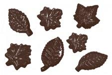 """Форма для шоколадных украшений """"Листочки ассорти"""" 11 ячеек"""