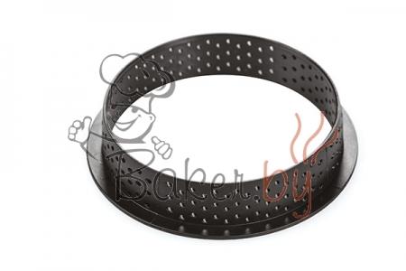 Кольцо для тарт перфорированное Ø100 h20 мм, термопластик