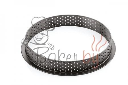 Кольцо для тарт перфорированное Ø120 h20 мм, термопластик