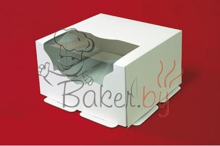 Коробка для торта с окном, 215х215х h130 мм