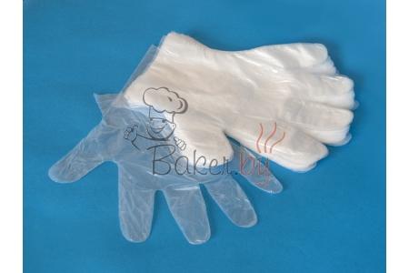 Перчатки полиэтиленовые одноразовые, 100шт/уп.