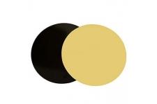 "Поднос ""Кондитер"", золото/черн., д.240 мм, толщина 3,5 мм"