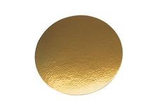 """Подложка для торта """"Кондитер"""" односторонняя, D28 см (толщина 2.5мм), золото"""