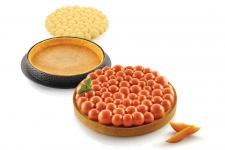 """Набор: Форма силиконовая """"Пузыри"""" (1 выемка, Ø170 h20 мм) + 1 кольцо для тарт перфорированное (Ø190 h20 мм)"""