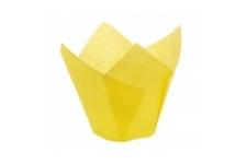 "Форма для выпечки ""Тюльпан"", Ø50 h 90 мм, 250 шт/упак. Желтый"