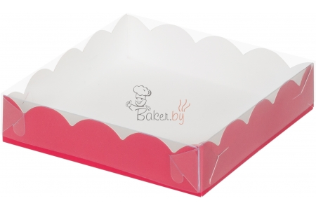 Коробка для пряников/печенья, (красная), 155х155х h35 мм