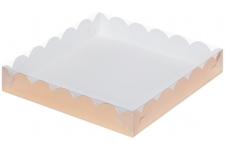 Коробка для пряников/печенья, (золото), 155х155х h35 мм