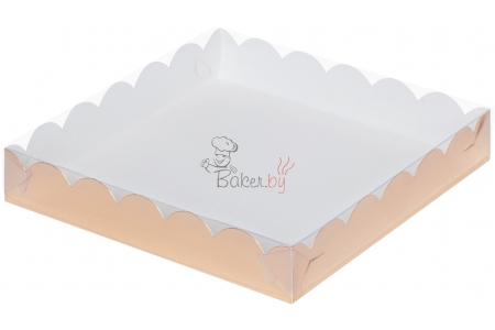 Коробка для пряников/печенья, (золотая), 155х155х h35 мм