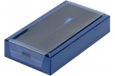 Коробка для 8 конфет с прозрачной крышкой Синяя, 180х100х h30 мм