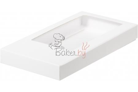 Коробка для шоколадной плитки, Белая, 160х80х h17 мм