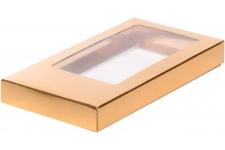 Коробка для шоколадной плитки, Золотая, 160х80х h17 мм