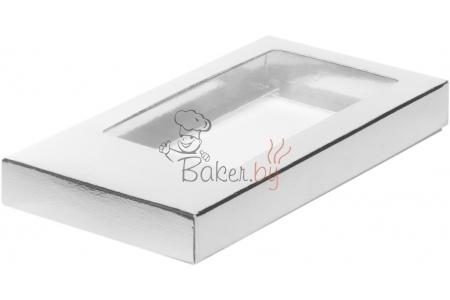 Коробка для шоколадной плитки, Серебро, 160х80х h17 мм
