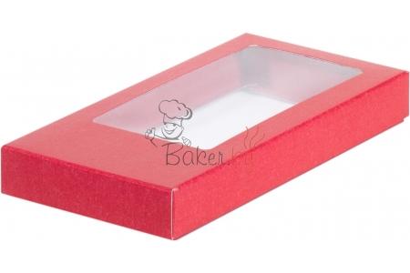 Коробка для шоколадной плитки, Красная, 160х80х h17 мм