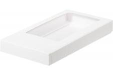 Коробка для шоколадной плитки, Белая, 180х90х h17 мм