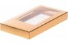 Коробка для шоколадной плитки, Золотая, 180х90х h17 мм