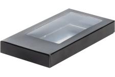 Коробка для шоколадной плитки, Черная, 180х90х h17 мм