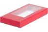 Коробка для шоколадной плитки, Красная, 180х90х h17 мм
