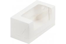 Коробка для кекса с окном, Белая, 200х100х h100 мм