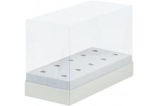 Коробка для кейк-попсов с пластиковой крышкой, Белая, 240х110х h160 мм
