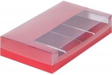 Коробка для эклеров и эскимо с пластиковой крышкой, Cherry, 250х150х h50 мм
