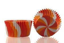 "Форма для выпечки ""Вихрь"" оранжевый Ø50 h35 мм, 25 шт."