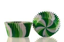 "Форма для выпечки ""Вихрь"" зеленый Ø50 h35 мм, 25 шт."