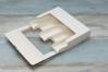 Коробка для эклеров и эскимо с окном, Белая с сердечками, 250х150х h50 мм