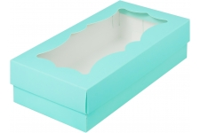 коробка для кондитерских изделий с фигурным окном 210х100х55 ТИФФАНИ