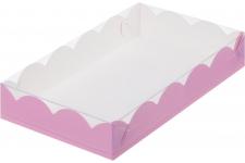 коробка для печенья и пряников 200х120х35 розовая
