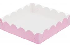 Коробка для пряников/печенья, (розовая матовая), 200х200х h35 мм