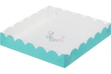 Коробка для пряников/печенья, (Тиффани), 200х200х h35 мм