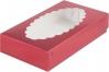 Коробка для эклеров с окном, Cherry, 240х140х h50 мм
