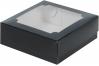 коробка для зефира 200х200х70 черная