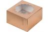 коробка для 4х капкейков 160х160х100 золотая