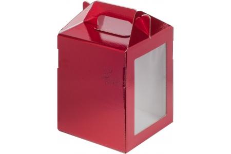 Коробка под пряничный домик и кулич, гофрокартон Красная