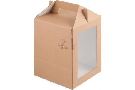 Коробка под пряничный домик и кулич, гофрокартон Крафт