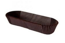 Форма для выпечки коричневая тарталетка овальная, 35х136 h27 мм, 50шт/уп