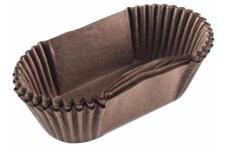 Форма для выпечки коричневая тарталетка овальная, 33х83 h22 мм, 50шт/уп
