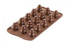 "Форма для шоколада ""Елочки"", 15 выемок, D28мм, h30мм"