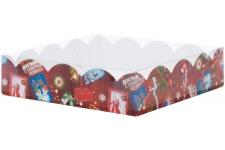 """Коробка для пряников/печенья """"Новогодняя почта"""", 120х120х h30 мм"""