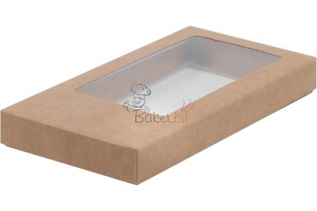 Коробка для шоколадной плитки, Крафт, 160х80х h17 мм