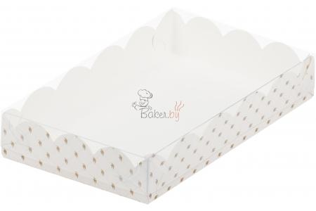 """Коробка для пряников/печенья """"Белая с птичками"""", 200х120х h35 мм"""