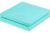 """Коробка для 25 конфет ПРЕМИУМ с логотипом """"Chocolate Hand Made Sweets"""" Тиффани матовая, 245х245х h30 мм"""