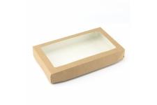 Коробка для пряников/печенья, крафт 250х150 h40 мм